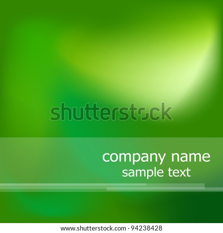 Abstract ecological background, illustration, Tahoma font - stock photo