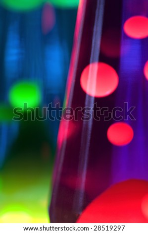 Abstract effect with 2 lava lamps - stock photo