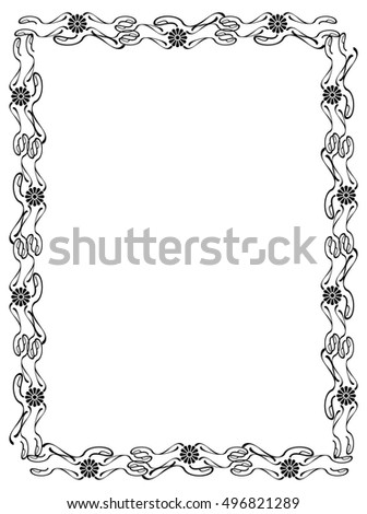 Abstract elegant frame. Design element for advertisements, logo, banners, labels, prints, posters, web, presentation, invitations, weddings, greeting cards, albums. Raster clip art.