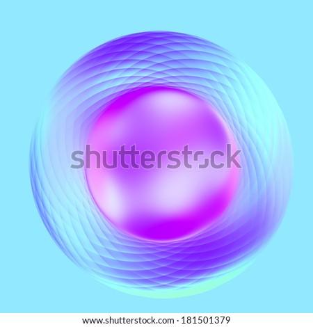 Abstract Elegant Purple Turquoise Metallic Software Button - stock photo