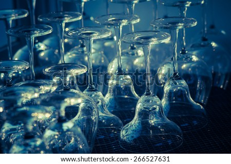 Abstract empty champagne glass
