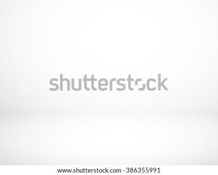 Abstract Empty gradient white studio room background - stock photo