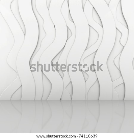 Abstract Empty Interior - 3d illustration - stock photo
