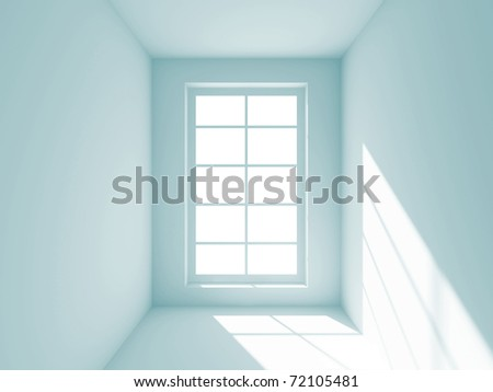 Abstract Empty Room - stock photo