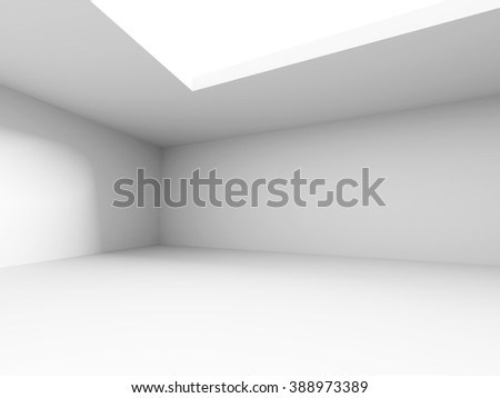 Abstract empty white room interior. 3d render illustration - stock photo