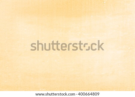 Abstract empty yellow organic texture background soft structure  Top view chalkboard with dust and scratches - stock photo