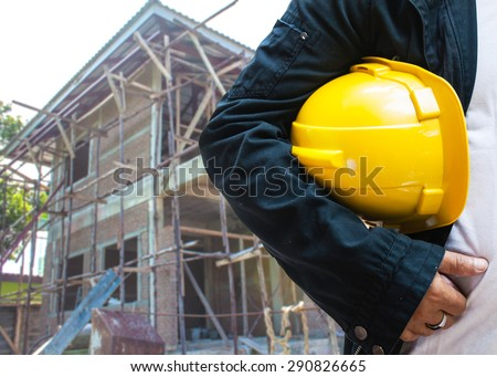 abstract engineer management construction background - stock photo