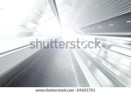 abstract escalator - stock photo