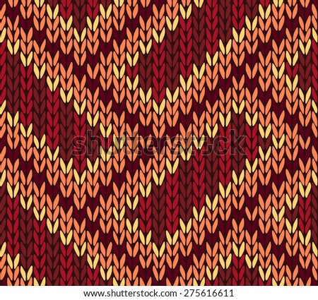Abstract Ethnic Knitted Seamless Background