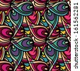 Abstract ethnic seamless pattern - raster version - stock