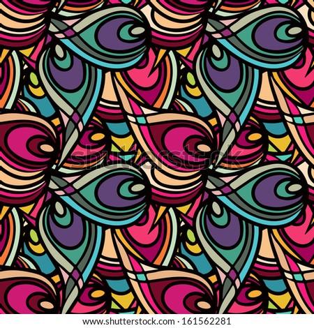 Abstract ethnic seamless pattern - raster version - stock photo