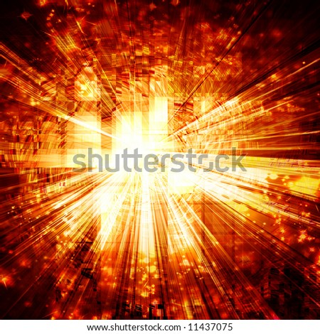 Abstract explosion - stock photo