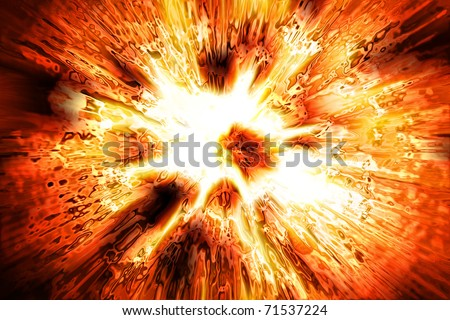 abstract explosion background - stock photo