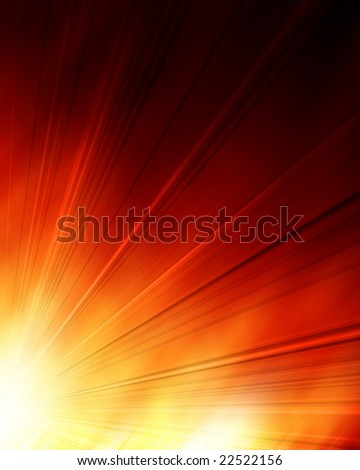 abstract explosion on a bright orange background