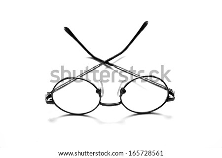 Abstract eyeglass background design - stock photo