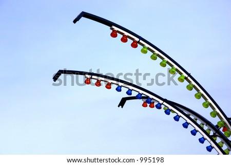 Abstract fairground lights - stock photo