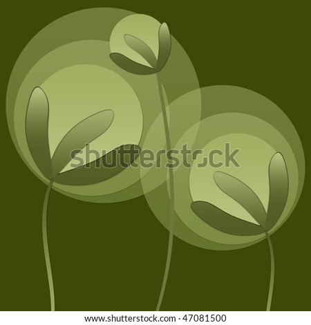 Abstract family of abstract plants - stock photo