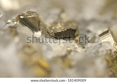 Abstract  fantastic background, magic of a stone, gold metal  (big collection). Macro - stock photo