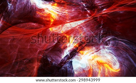 Abstract fantasy bright motion composition. Modern futuristic dynamic dark background for wallpaper, interior, flyer cover, poster, banner, booklet. Fractal art for creative graphic design. - stock photo