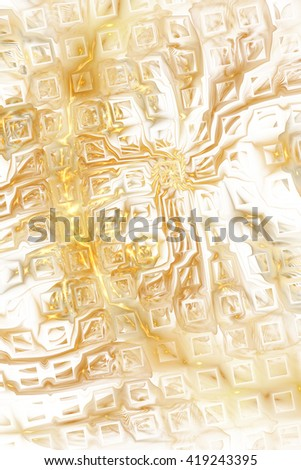 Abstract fantasy color splashes on white background. Creative orange and blue fractal design for greeting cards or t-shirts. - stock photo