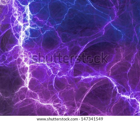 Abstract fantasy lightning - stock photo