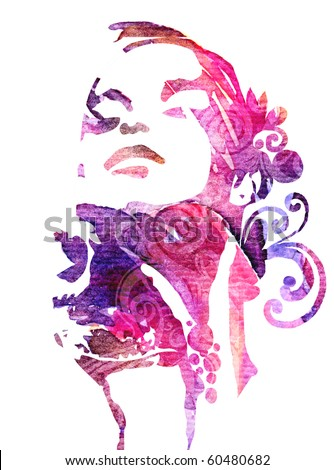 Abstract fashion illustration - stock photo