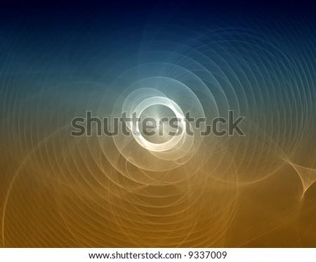 abstract fata morgana desert sun - stock photo