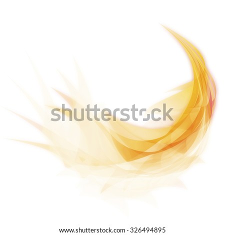Abstract feather design