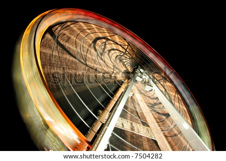 Abstract ferric wheel, long exposure - fantastic detail and very colorful - stock photo