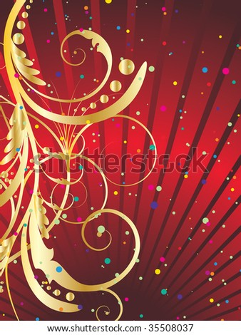 Abstract festive background in red colors. In my portfolio also available vector version for this picture.
