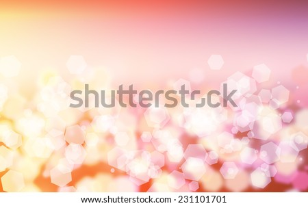 Abstract & Festive background with bokeh  - stock photo