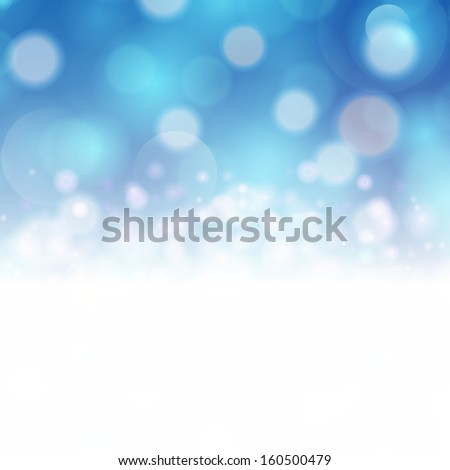 Abstract festive background with bokeh defocused lights. - stock photo