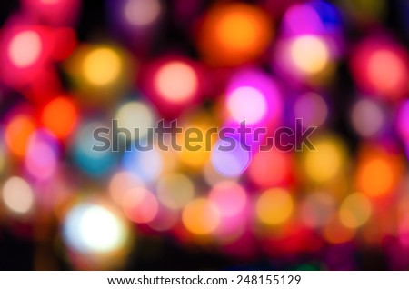 Abstract & Festive background with bokeh defocused lights - stock photo