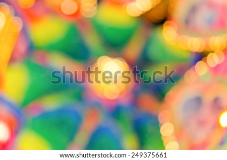 Abstract & Festive background with bokeh defocused lights