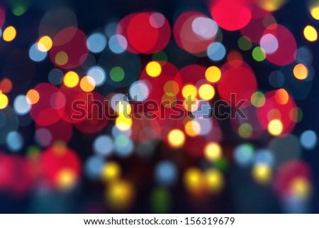 Abstract Festive Lights Background. Christmas and New Year Bokeh blinking background