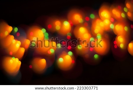 Abstract Festive Lights Background. Christmas and New Year Bokeh blinking background - stock photo