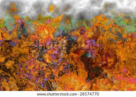 Abstract fiery drawing