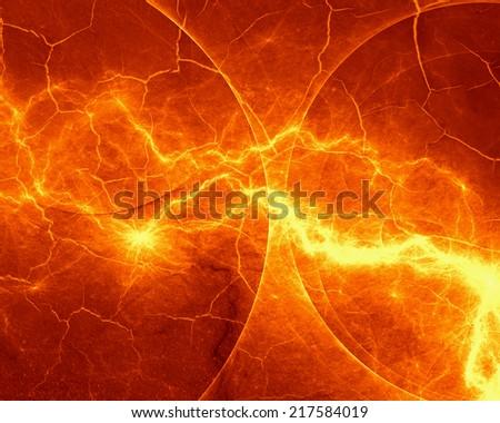Abstract fiery lightning - stock photo