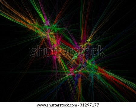 abstract figure to background. fractal