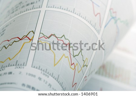Abstract Financial Chart Background - stock photo