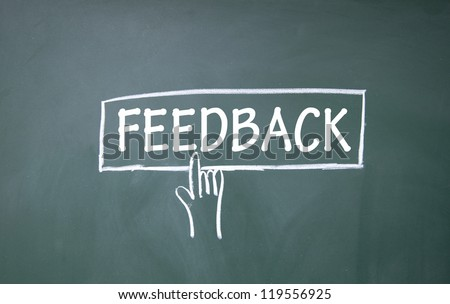 abstract finger click feedback sign - stock photo