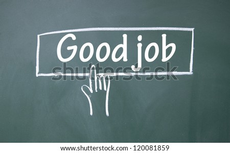 abstract finger click good job sign