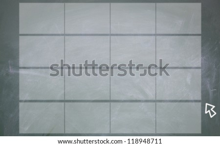 abstract finger click screen sign - stock photo