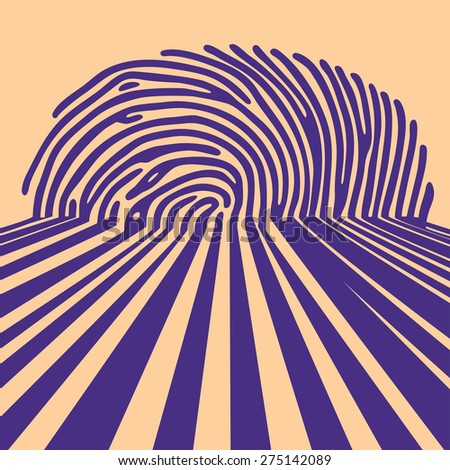 abstract fingerprint shadow background - stock photo