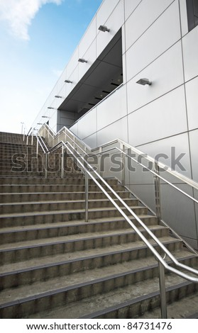 Abstract fire escape background texture - stock photo