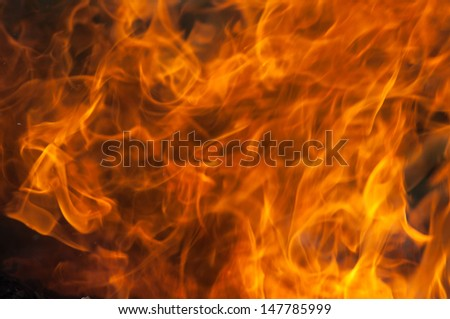 Abstract fire, flame background. - stock photo