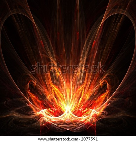 Abstract fire flames - stock photo