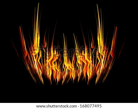 Abstract fire flames fractal