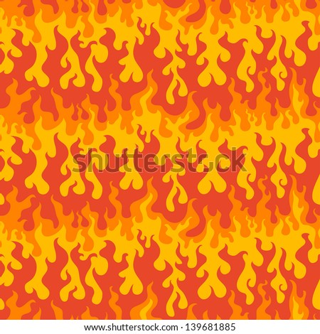 abstract fire seamless pattern (raster version) - stock photo
