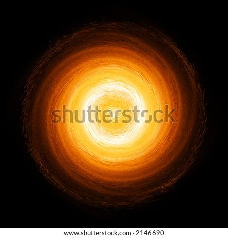 abstract fireball - stock photo